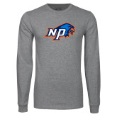Grey Long Sleeve T Shirt-NP Hawk Head