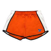 Ladies Orange/White Team Short-Official Logo