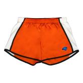 Ladies Orange/White Team Short-Hawk Head
