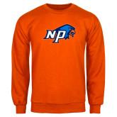 Orange Fleece Crew-NP Hawk Head