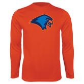 Performance Orange Longsleeve Shirt-Hawk Head