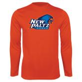 Performance Orange Longsleeve Shirt-Head Word Mark