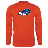 Performance Orange Longsleeve Shirt-NP Hawk Head