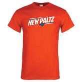Orange T Shirt-New Paltz Slanted w/ Logo