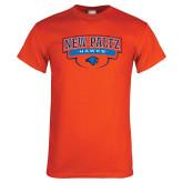 Orange T Shirt-New Paltz Hawks Arched Stacked