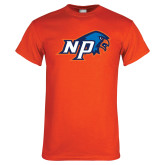 Orange T Shirt-NP Hawk Head