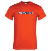 Orange T Shirt-New Platz Wordmark
