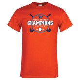 Orange T Shirt-2018 SUNYAC Field Hockey Champions
