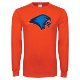 Orange Long Sleeve T Shirt-Hawk Head