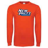 Orange Long Sleeve T Shirt-New Paltz Hawks