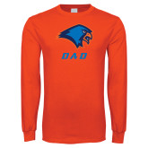 Orange Long Sleeve T Shirt-Dad