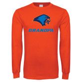 Orange Long Sleeve T Shirt-Grandpa