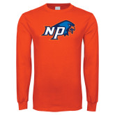 Orange Long Sleeve T Shirt-NP Hawk Head
