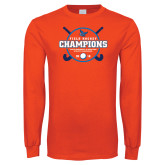 Orange Long Sleeve T Shirt-2018 SUNYAC Field Hockey Champions