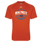 Under Armour Orange Tech Tee-New Paltz Basketball Arched w/ Ball