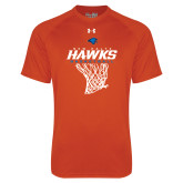 Under Armour Orange Tech Tee-Hawks Basketball w/ Hanging Net