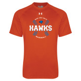 Under Armour Orange Tech Tee-Hawks Baseball w/ Seams