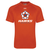 Under Armour Orange Tech Tee-Hawks Soccer w/ Geometric Ball