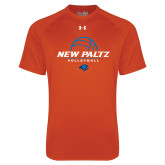 Under Armour Orange Tech Tee-New Paltz Volleyball Stacked