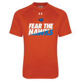 Under Armour Orange Tech Tee-Fear The Hawks