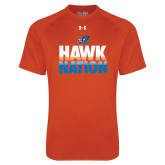 Under Armour Orange Tech Tee-Hawk Nation