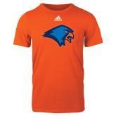 Adidas Orange Logo T Shirt-Hawk Head
