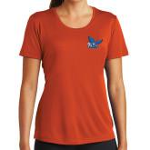 Ladies Syntrel Performance Orange Tee-Official Logo