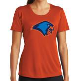 Ladies Syntrel Performance Orange Tee-Hawk Head