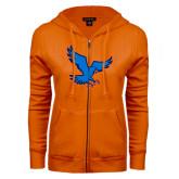 ENZA Ladies Orange Fleece Full Zip Hoodie-Hawk