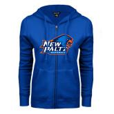 ENZA Ladies Royal Fleece Full Zip Hoodie-Baseball