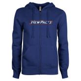 ENZA Ladies Royal Fleece Full Zip Hoodie-New Platz Wordmark