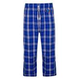 Royal/White Flannel Pajama Pant-Hawk Head
