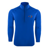 Sport Wick Stretch Royal 1/2 Zip Pullover-Hawk Head