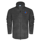 Columbia Full Zip Charcoal Fleece Jacket-Hawk Head