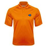 Orange Textured Saddle Shoulder Polo-Hawk Head
