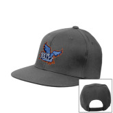 Charcoal Flat Bill Snapback Hat-Official Logo