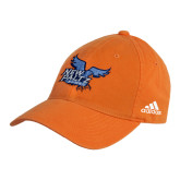 Adidas Orange Slouch Unstructured Low Profile Hat-Official Logo