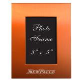Orange Brushed Aluminum 3 x 5 Photo Frame-New Paltz Word Mark Engraved