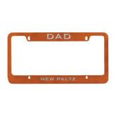 Dad Metal Orange License Plate Frame-Dad