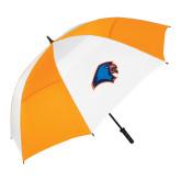 62 Inch Orange/White Umbrella-Hawk Head