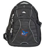 High Sierra Swerve Black Compu Backpack-Official Logo