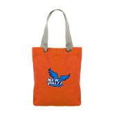 Allie Orange Canvas Tote-Official Logo