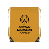 Gold Drawstring Backpack-Primary Mark Vertical