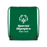 Kelly Green Drawstring Backpack-Primary Mark Vertical