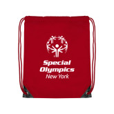 Red Drawstring Backpack-Primary Mark Vertical