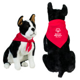 Red Pet Bandana-Primary Mark Vertical