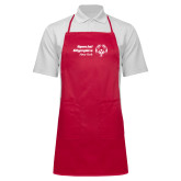 Full Length Red Apron-Primary Mark Horizontal