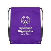 Purple Drawstring Backpack-Primary Mark Vertical