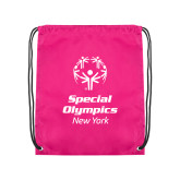 Pink Drawstring Backpack-Primary Mark Vertical