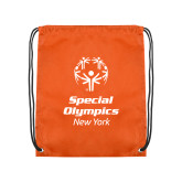 Orange Drawstring Backpack-Primary Mark Vertical